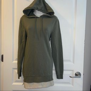 ASOS Hooded Top W/ Sides Zippers Size S